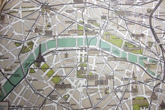 パリの古地図 包装紙M2枚