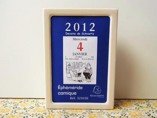 フランス 日めくりカレンダー2012 コミック