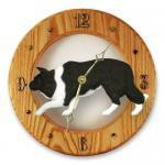 ボーダーコリー 掛け時計