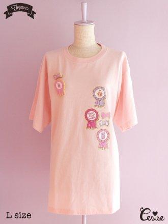 Toyme ロゼットクッキーTシャツ(ベビーピンク)