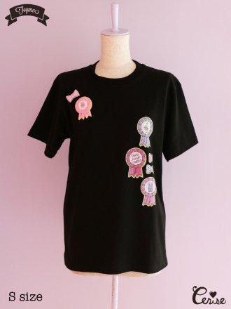Toyme ロゼットクッキーTシャツ(ブラック)