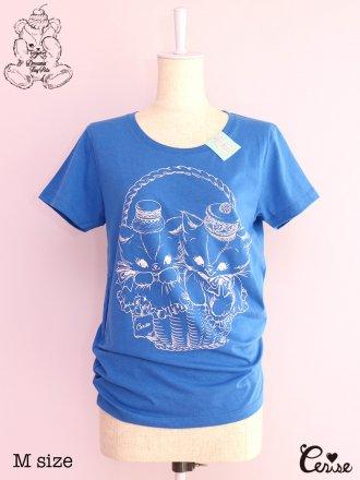 Cerise クリーミーキャットpt. Tシャツ (ブルー)