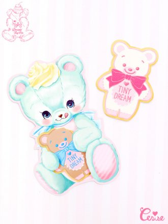 Dreamin' Tiny Pets ダイカットカード 『Cookie Bear』