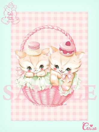 <img class='new_mark_img1' src='https://img.shop-pro.jp/img/new/icons20.gif' style='border:none;display:inline;margin:0px;padding:0px;width:auto;' />【SALE】Dreamin' Tiny Pets ポスター『Creamy Cat』