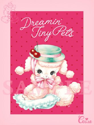 <img class='new_mark_img1' src='https://img.shop-pro.jp/img/new/icons20.gif' style='border:none;display:inline;margin:0px;padding:0px;width:auto;' />【SALE】Dreamin' Tiny Pets ポスター『Precious Poodle』