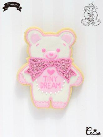 Toyme×MAKI Tiny Dream Bearブローチ (バニラ)