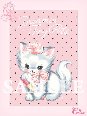 <img class='new_mark_img1' src='https://img.shop-pro.jp/img/new/icons20.gif' style='border:none;display:inline;margin:0px;padding:0px;width:auto;' />【SALE】Dreamin' Tiny Pets ポスター『Precious Cat』