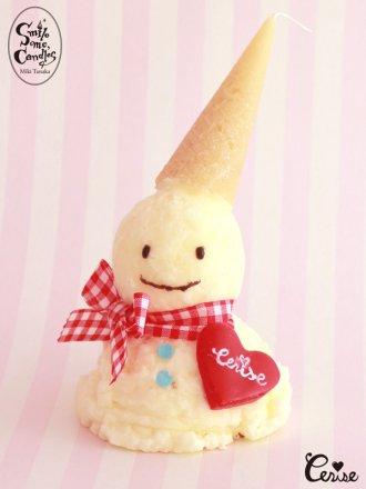 Smile me, Candles アイスクリームスノーマンキャンドル