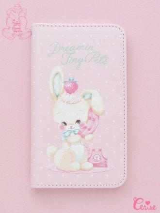Dreamin' Tiny Pets Book型スマートフォンケース『Telephone Bunny』
