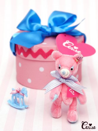 Cerise My Li'l Buddy in Hatbox Set (ピンク×サックス)