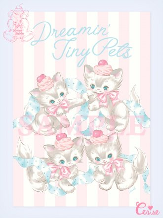 <img class='new_mark_img1' src='https://img.shop-pro.jp/img/new/icons20.gif' style='border:none;display:inline;margin:0px;padding:0px;width:auto;' />【SALE】Dreamin' Tiny Pets ポスター『Dreaming Town Cats』
