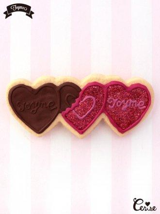 Toyme ハートチョコレートヘアピン(レッド)