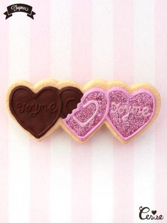 Toyme ハートチョコレートヘアピン(ピンク)
