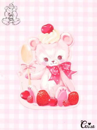 Dreamin' Tiny Pets ダイカットカード『Berry Pink Bear』