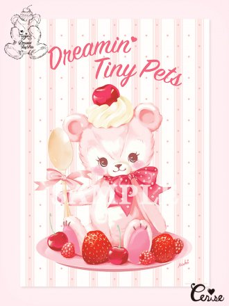 <img class='new_mark_img1' src='https://img.shop-pro.jp/img/new/icons7.gif' style='border:none;display:inline;margin:0px;padding:0px;width:auto;' />Dreamin' Tiny Pets ポスター『Berry Pink Bear』