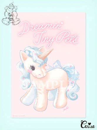 Dreamin' Tiny Pets ミニポスター『Ice Cream Unicorn』