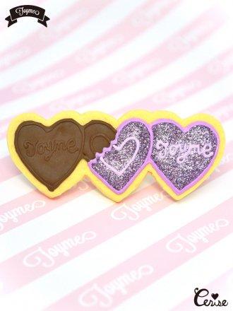 Toyme ハートチョコレートヘアピン(ラベンダー)