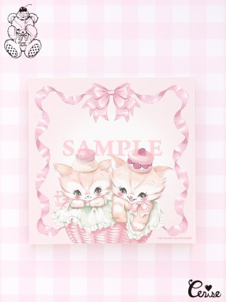 Dreamin' Tiny Pets スクエアメモパッド『Creamy Cats』