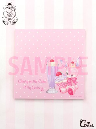 Dreamin' Tiny Pets スクエアメモパッド『Cherie Bunny』(PK)
