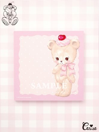 Dreamin' Tiny Pets スクエアメモパッド『Darling Bear』