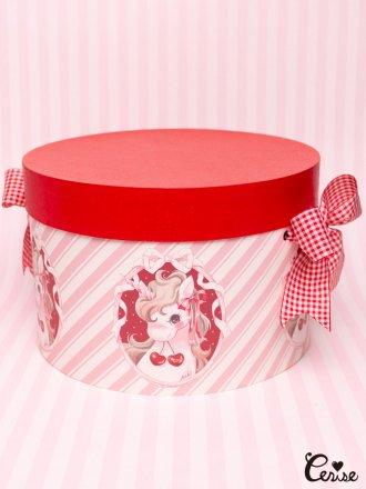 Hat Box チェリーユニコーン帽子箱(PK)