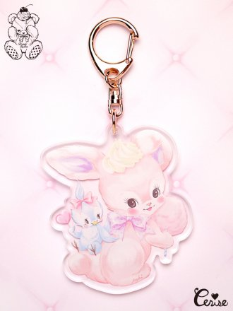 Dreamin' Tiny Pets アクリルキーホルダー 『Friendship Bunny』