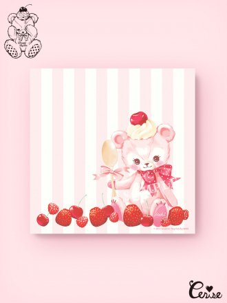 Dreamin' Tiny Pets スクエアメモパッド『Berry Pink Bear』
