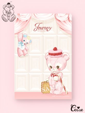 Dreamin' Tiny Pets メモパッド『Journey the Teddy Bear』