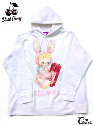 LAND by MILKBOY × Cerise BOMBER BOY HOODIES (ホワイト)