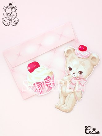 Dreamin' Tiny Pets ダイカットカード『Darling Bear』