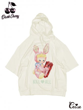 <img class='new_mark_img1' src='https://img.shop-pro.jp/img/new/icons50.gif' style='border:none;display:inline;margin:0px;padding:0px;width:auto;' />LAND by MILKBOY × Cerise BOMBER BOY SHORT SLEEVE HOODIES (ホワイト)