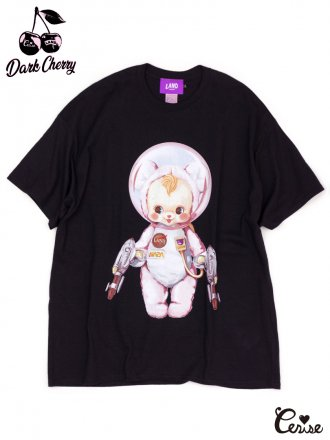 LAND by MILKBOY × Cerise ASTROBOY BIG TEE (ブラック×ピンクベアpt)