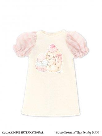 PNSイースターTシャツワンピース by MAKI (クリーム×ピンク)