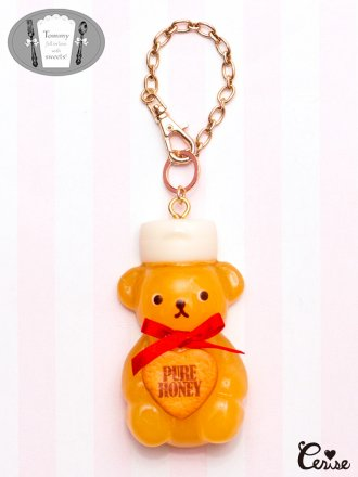 Tommy fell in love with sweets! くまのシロップボトルバッグチャーム (ハニー)