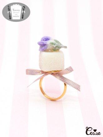 TiTi すみれの花の砂糖漬けシュガーリング