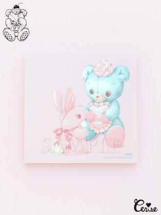 Dreamin' Tiny Pets メモパッド『Talking Bunny & Bear』