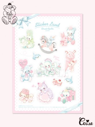 Dreamin' Tiny Pets ステッカーシート 『Sticker Land』