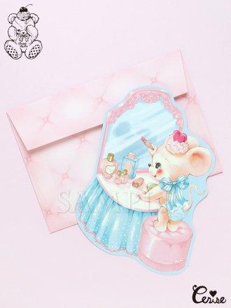 Dreamin' Tiny Pets ダイカットカード『Baby Mouse & Vanity』