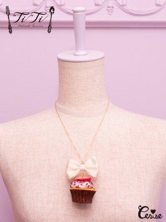 TiTi ストロベリーカップケーキネックレス