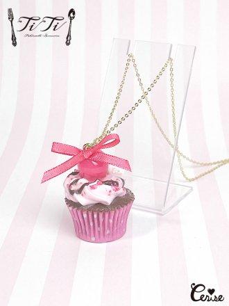 TiTi × Cerise チェリーショコラカップケーキネックレス