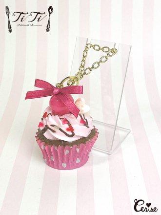 TiTi × Cerise チェリーショコラカップケーキバッグチャーム