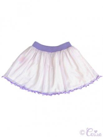 Cerise 裾フルリボンシフォンスカート(ラベンダードット)