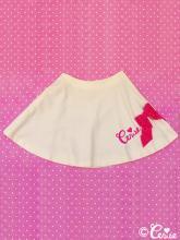 Cerise リボンロゴサーキュラースカート(ホワイト)