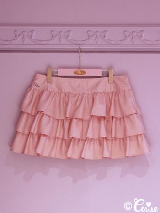 Cerise ティアードミニスカート(ピンク)