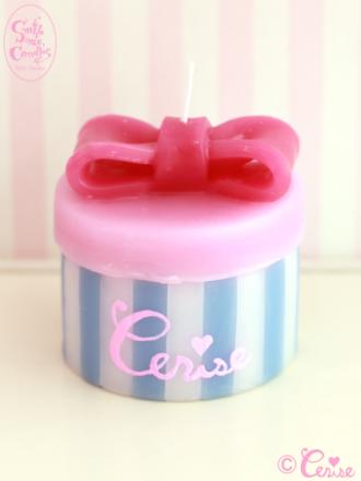 Smile me, Candles ハットボックスキャンドル(Cerise)