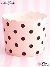 Miss Etoile ドットベーキングカップ(ピンク×ブラック)(L)