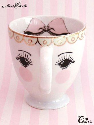 Miss Etoile  コーヒーマグ(eyes & bow)