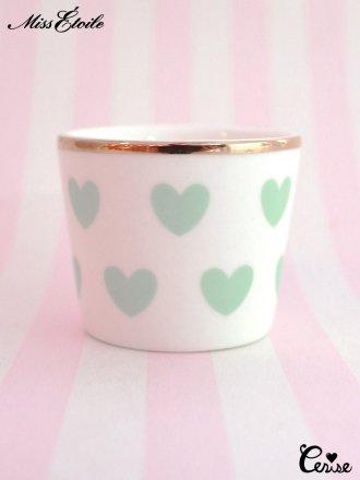 Miss Etoile  エッグカップ(ハート)(グリーン)
