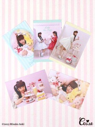 青木美沙子 ポストカードセット『Tea Party』