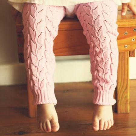 [Huggalugs] Lupine - Soft Pink Lacy Cable Knits 0-6yrs
